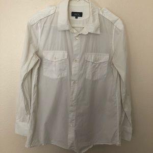 APC White Button Up